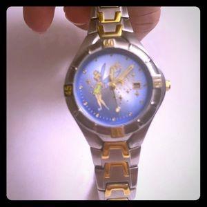Accessories - EUC Disney tinker bell silver watch